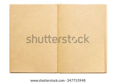 Rough brown notebook isolated