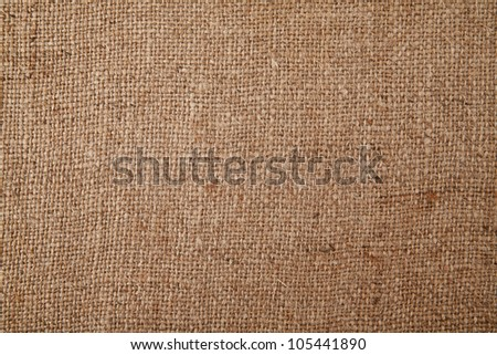 rough fabric sack-cloth as the background