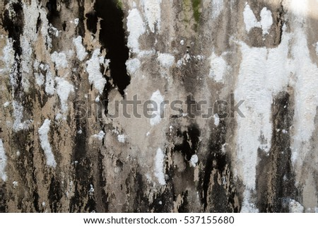 Rough grunge gray concrete wall background.