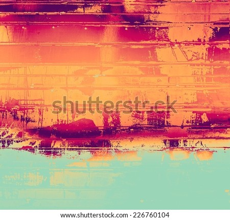 Rough grunge texture. With different color patterns: red, orange, purple (violet), blue