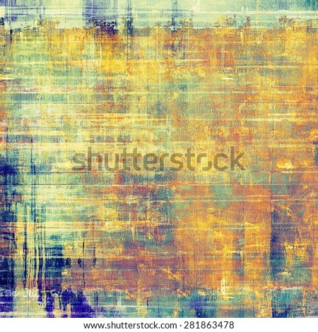 Rough grunge texture. With different color patterns: yellow (beige); brown; blue; cyan - stock photo