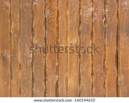 rough lacquered brown planks texture - stock photo