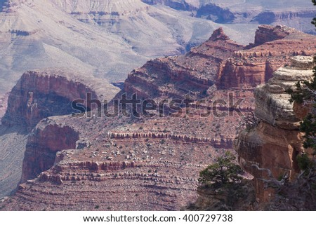 Rough landscape of the Grand Canyon in Arizona, USA, for background or texture
