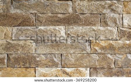 Rough marble brick wall, close up shot - stock photo