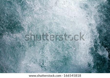 rough mountain river as background - stock photo