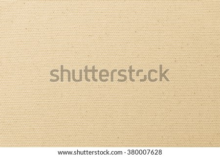Rough muslin woven texture pattern background in light cream beige white color tone: Eco friendly raw organic flax sack cloth fabric textile backdrop: Bag rope thread detailed textured burlap canvas - stock photo