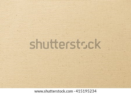 Rough muslin woven texture pattern background light yellow cream brown earth color tone Eco friendly raw organic flax sack cloth fabric textile backdrop: Bag rope thread detail textured burlap canvas - stock photo