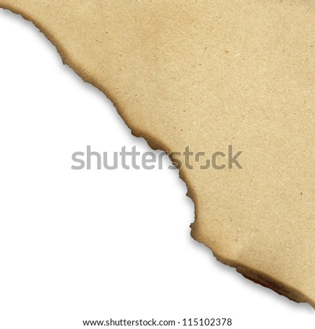 Rough paper texture burnt - stock photo