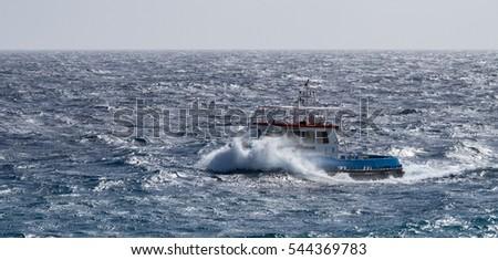 Rough Seas At Punda