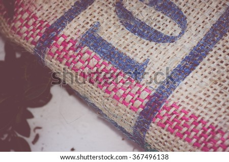 rough surface burlap fabric background