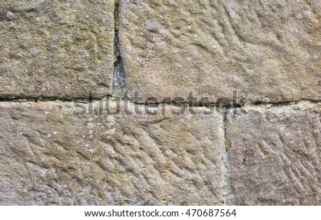 Rough surfaced stone blocks