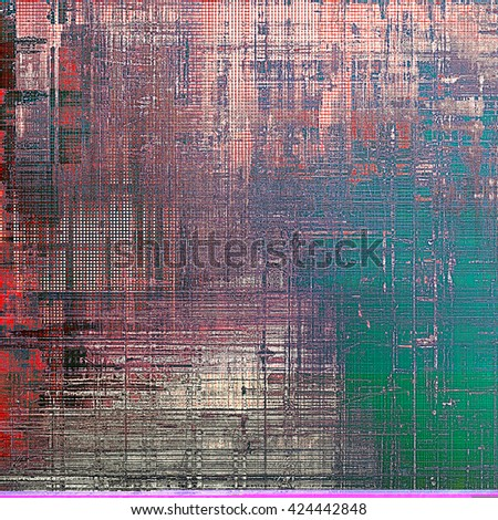 Rough textured backdrop, abstract vintage background with different color patterns: green; blue; red (orange); gray; pink - stock photo