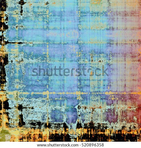 Rough textured backdrop, abstract vintage background with different color patterns: yellow (beige); blue; red (orange); cyan; pink; black