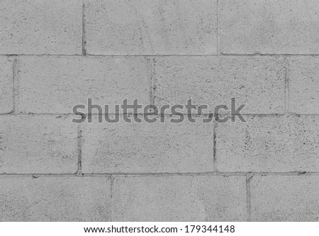 Rough textured grey cement blocks background - stock photo
