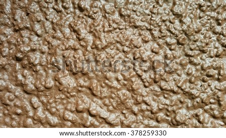 Roughtextured Wall Surface On Brown Paint Stock Photo 378259330 ...
