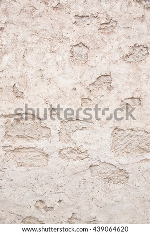 Rough traditional Mallorca stone wall abstract background wall texture with copy space. - stock photo