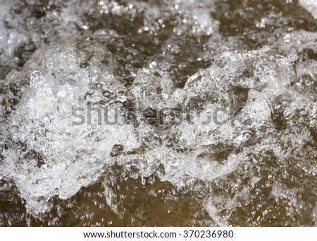 rough water as the background on the nature - stock photo