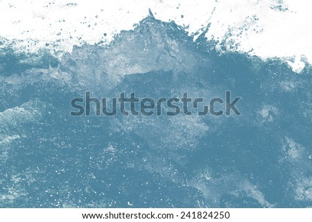rough water on a white background - stock photo