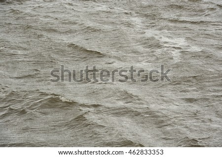 Rough Water Surface During Storm