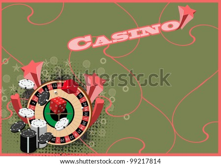 Roulette background with space (poster, web, leaflet, magazine) - stock photo