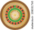 roulette casino illustration isolated on white background - stock photo