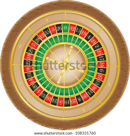 roulette casino illustration isolated on white background - stock photo
