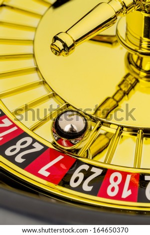 roulette gambling in the casino. the ball rolls. - stock photo