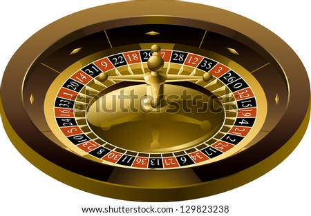 Roulette. Illustration of Roulette isolated on white background. There are no meshes in this image.