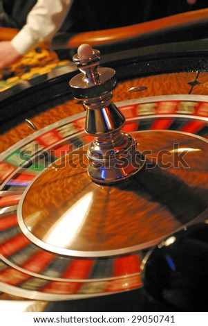 roulette in a casino - stock photo
