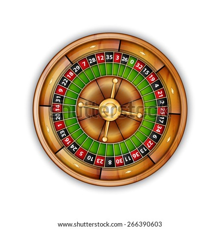 Roulette isolated on white