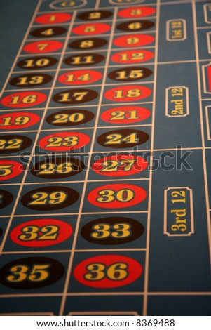 Roulette table at a casino in Las Vegas - stock photo