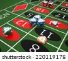 Roulette table in a casino. High resolution - stock vector