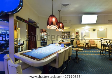 Roulette table in casino  - stock photo
