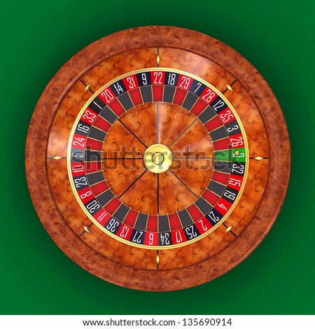 Roulette topview 3d render - stock photo