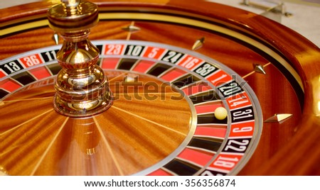 roulette wheel and the ball in the winning number thirty one