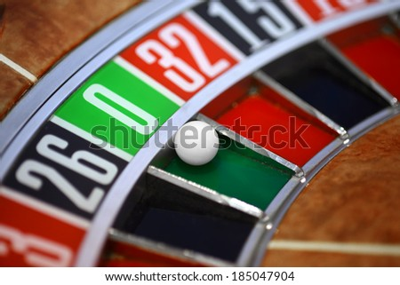 Roulette wheel, gambling concept - stock photo