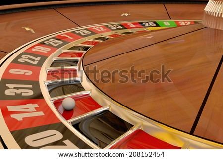 Roulette wheel winning number