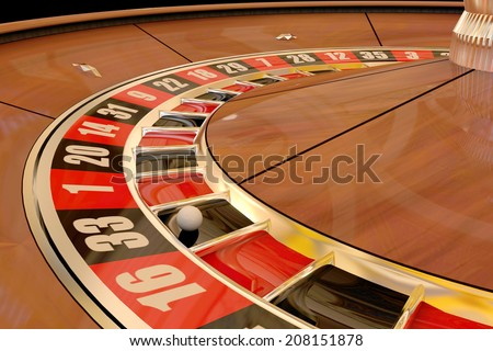 Roulette wheel winning number thirty three