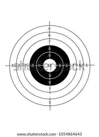 Round Black White Target Training Hit Stock Illustration 1054864643 on