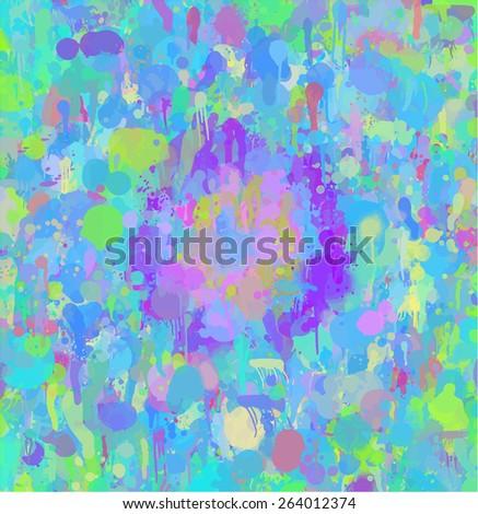 Round blue pattern brush strokes background. Raster version  - stock photo