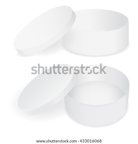 Stack White Round Beer Coasters 3d Stock Illustration