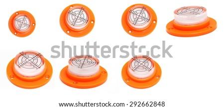 round buble level - stock photo