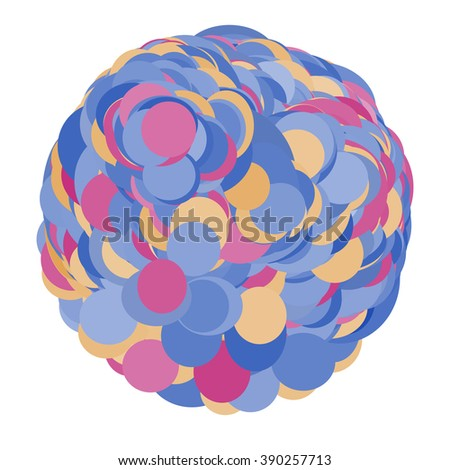 Round colorful  shape. Abstract  banner. Design element.