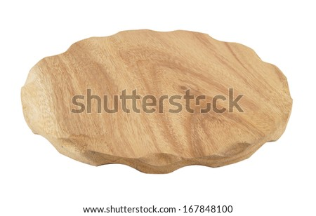 Round cutting board isolated - stock photo