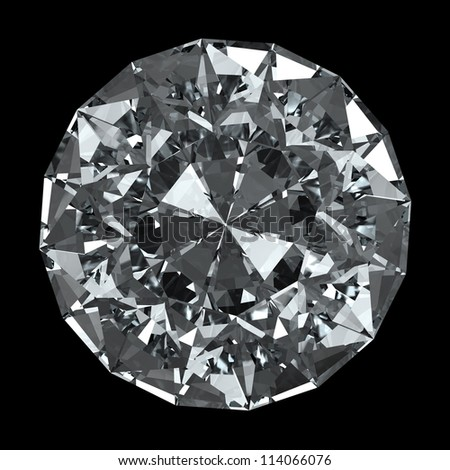 round diamond - isolated on black background with clipping path