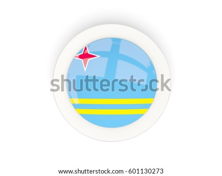 Round Flag Aruba Carbon Frame 3d Stock Illustration 601130273 ...
