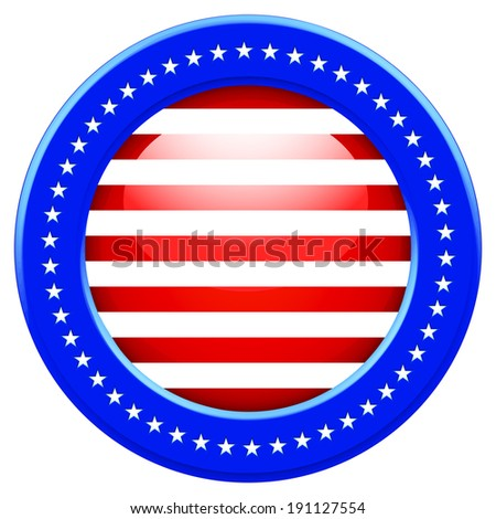 Round Flag of the United States of America - stock photo
