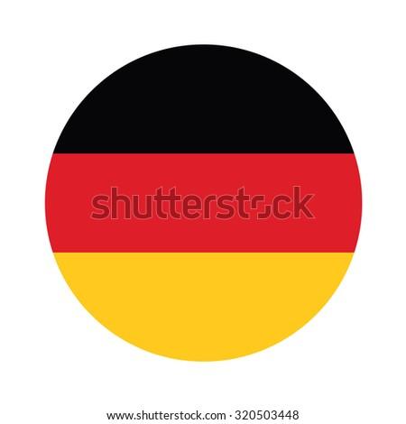 Round german flag raster icon isolated, german flag button - stock photo