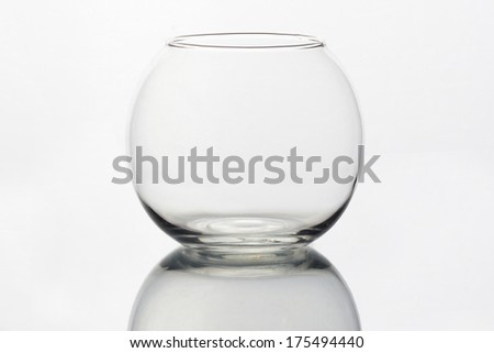 round glass and empty tank