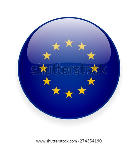 round european union flag vector icon stock vector